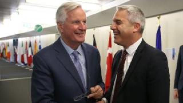 Michel Barnier meeting Stephen Barclay in Brussels