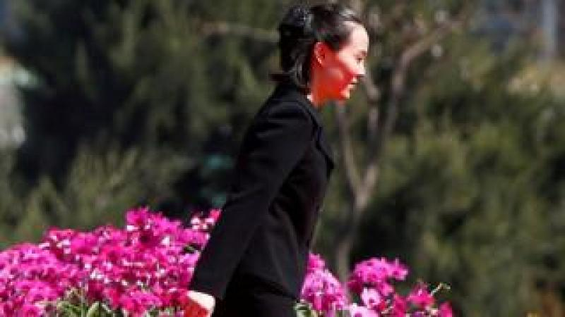 Kim Yo-jong, sister of North Korean leader Kim Jong-un, attends an opening ceremony of a newly constructed residential complex in Ryomyong street in Pyongyang, North Korea on 13 April 2017.