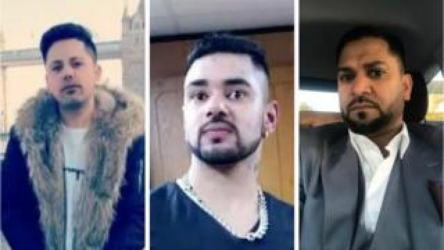 (l-r) Harinder Kumar, Narinder Singh Lubhaya, Malkit Singh Dhillon