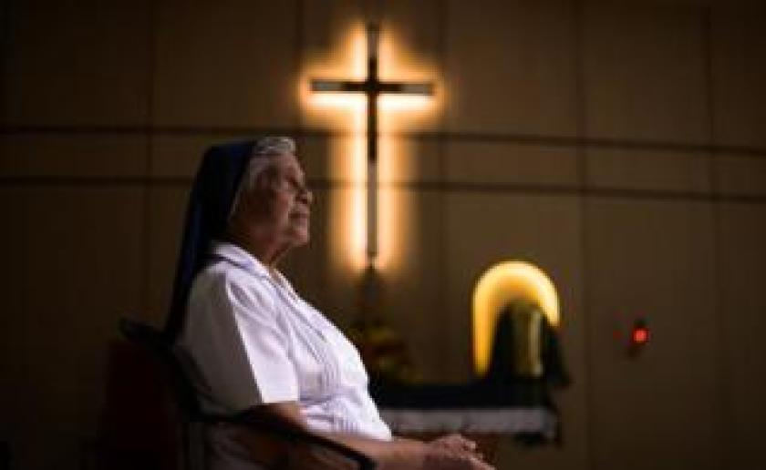 Sister Gerard Fernandez, 81, at her convent in Singapore's central Toa Payoh district
