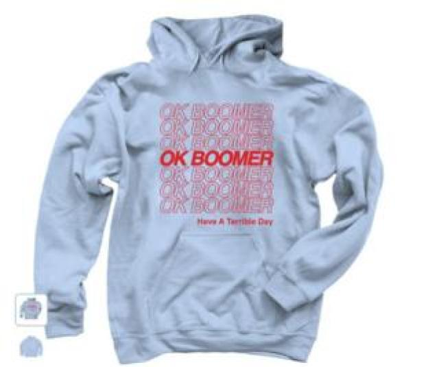 picture of OK Boomer sweatshirt for sale