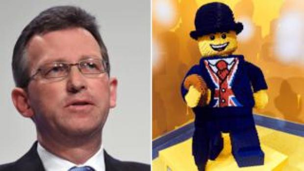 Jeremy Wright (left) and Lego character (right)