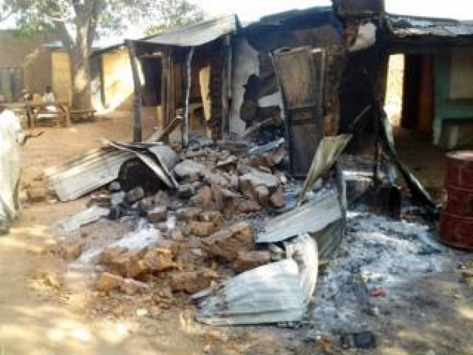 NEWS Image of a destroyed village in Zamfara State