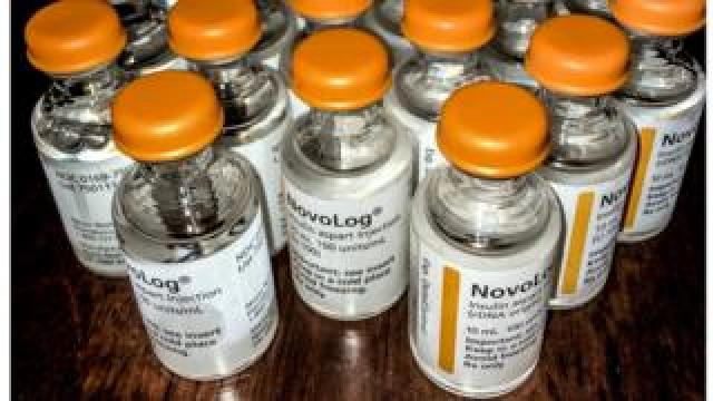 Vials of NovoLog insulin from a T1 diabetic's stockpile