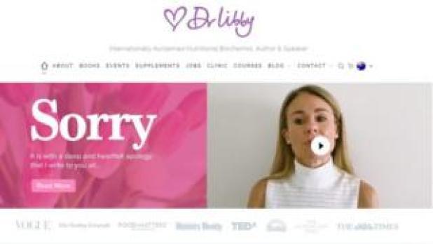 Screenshot of Dr Libby website