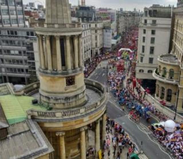 Aerial view of Pride