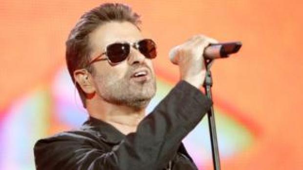George Michael performing in 2005