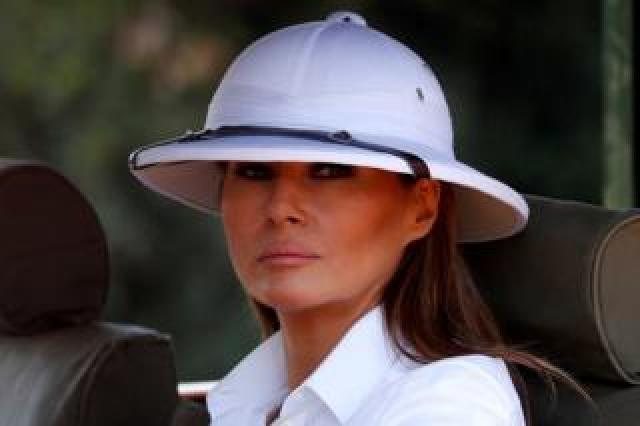 U.S. first lady Melania Trump takes a safari in Nairobi, Kenya, October 5, 2018