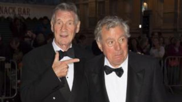 Sir Michael Palin and Terry Jones in 2016