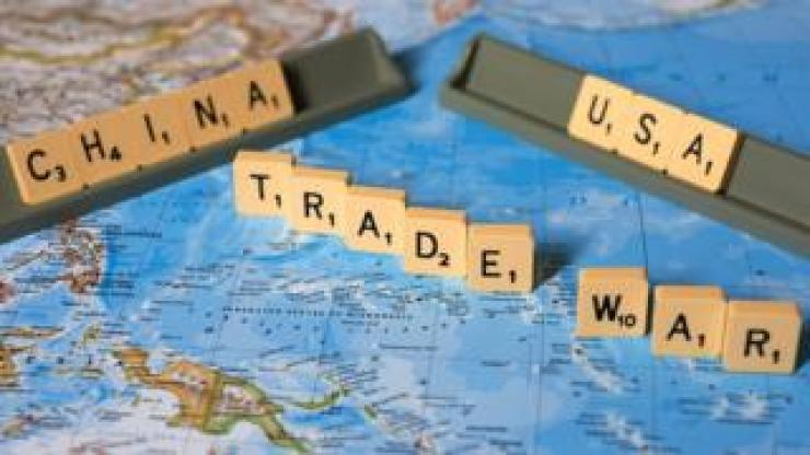 US-China trade war scabble game