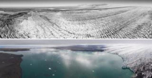 Breiðamerkurjökull 1989 and 2019