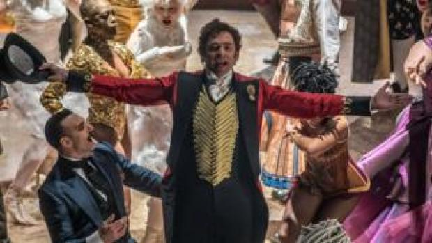 Hugh Jackman (centre) in The Greatest Showman