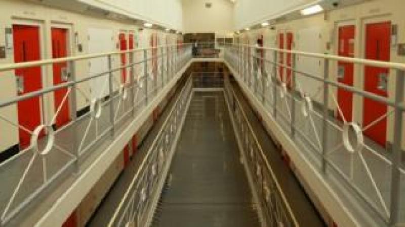 Inside a prison