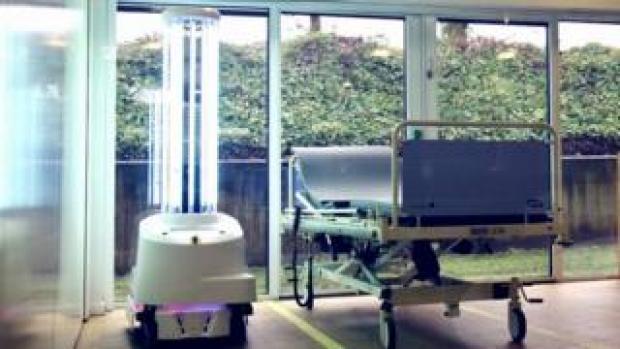 UV robot in action