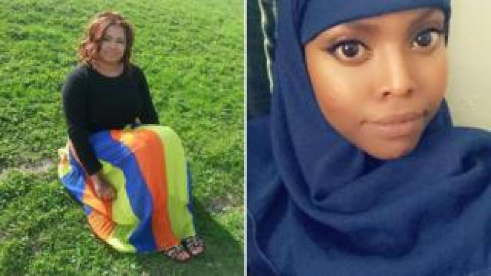 Karima Watts (left) and Maymona Abdi (right)