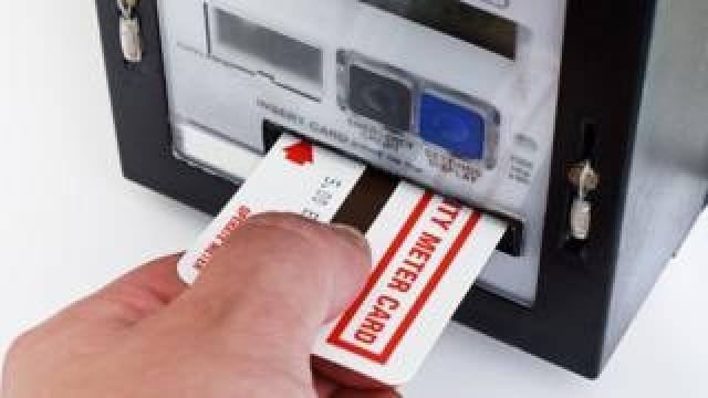 Prepayment card meter