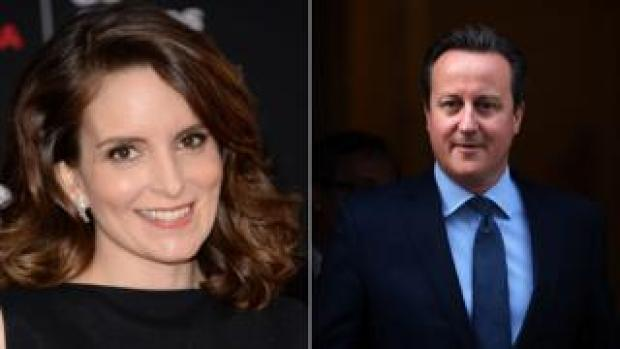 Tina Fey and David Cameron