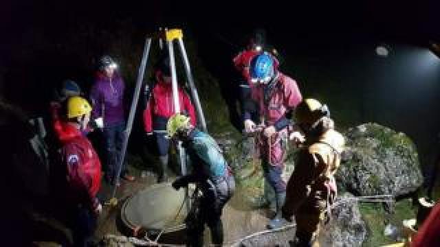 Scene of Lancaster Hole rescue