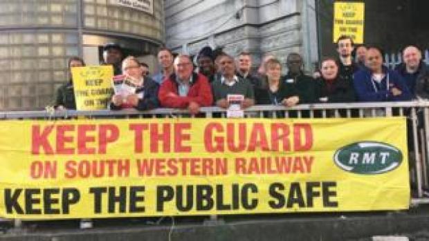 rail workers on strike
