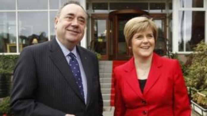 Alex Salmond and Nicola Sturgeon