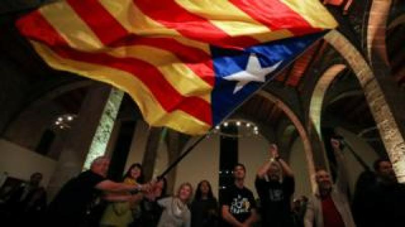 pro-independence supporters celebrate