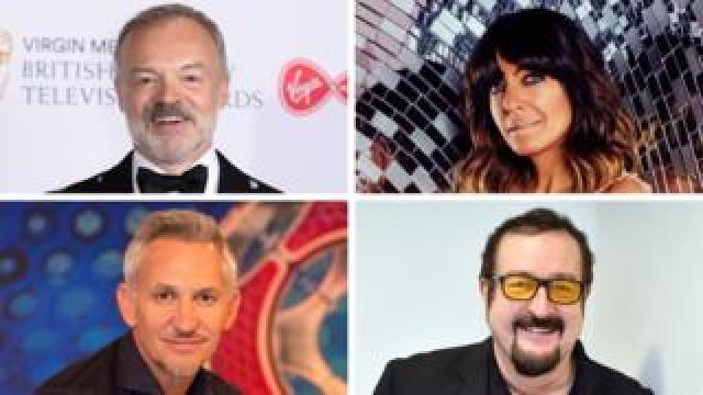 raham Norton, Gary Lineker, Steve Wright and Claudia Winkleman