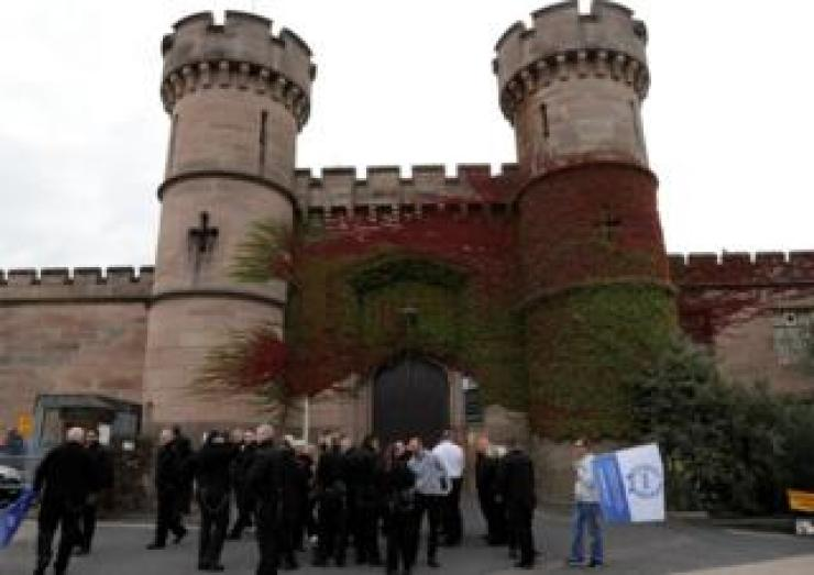 Protesters at HMP Leicester