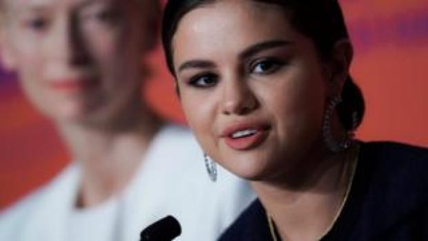 Selena Gomez, with Tilda Swinton