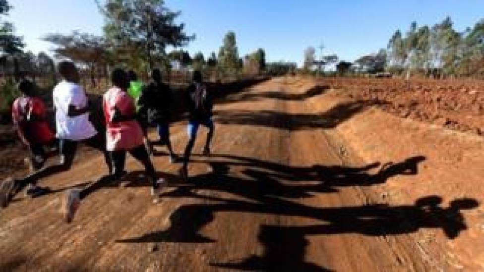 Marathon runners train in Kenya