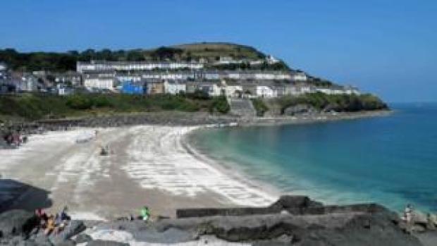 New Quay beach in Ceredigion