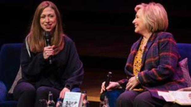 Chelsea Clinton (left) and Hillary Clinton