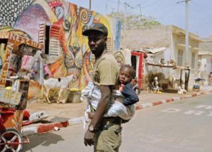 Badou and Mouhammed in Medina in Dakar, Senegal