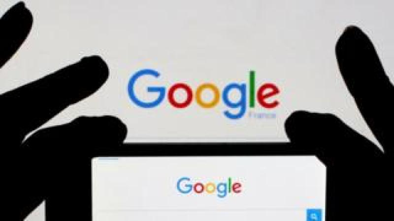 Google on phone and screen