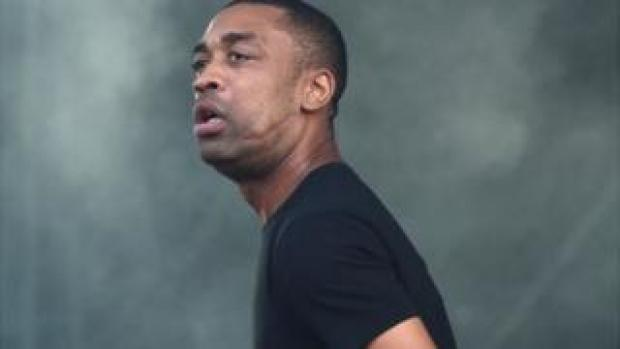 Rapper Wiley on stage