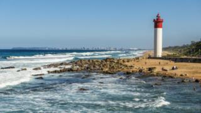 A lighthouse near Durban in South Africa