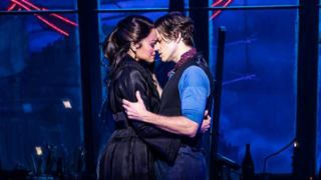 Karen Olivo and Aaron Tveit