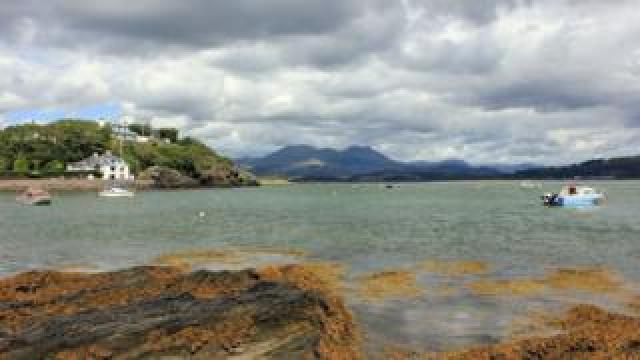 The view looking north from Borth y Gest