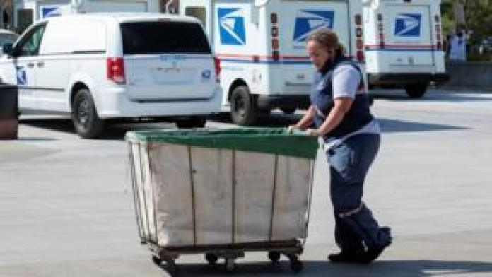 A worker in the US Postal Service