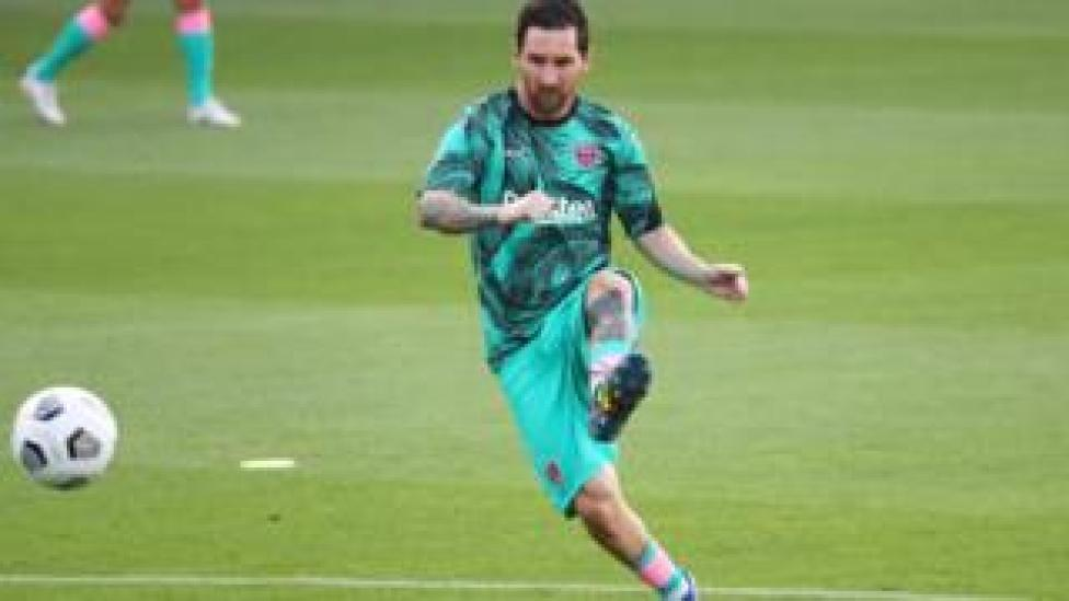 lionel messi in friendly against Girona Sept 16 2020