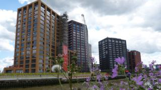 new development in London's Docklands