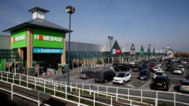 A view of a Homebase store at Wrekin Retail Park in Telford