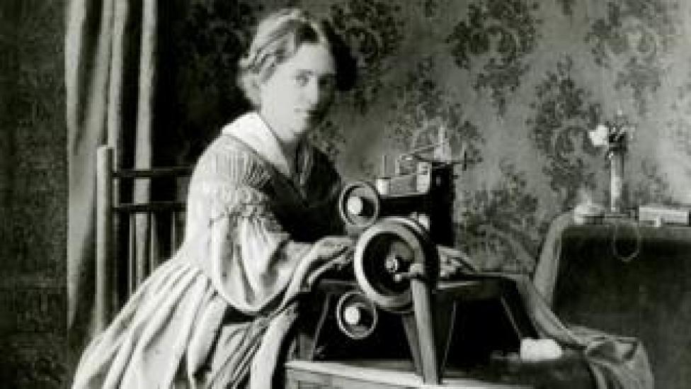 إعلان ماكينة سينجر عام 1899
