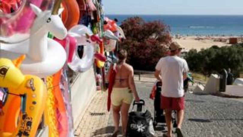 Tourists on the Algarve