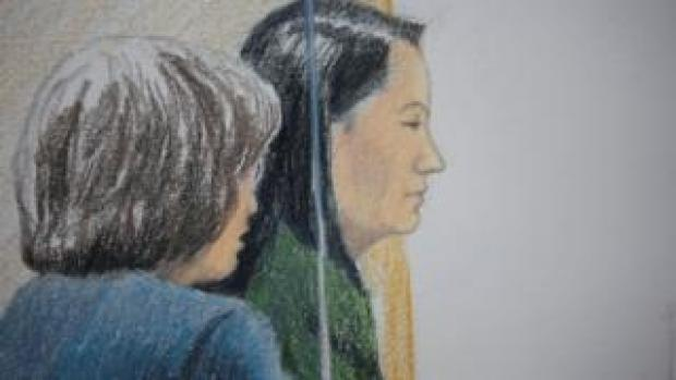 Court sketch of Meng Wanzhou during her bail hearing in Vancouver, British Columbia, Canada December 7, 2018