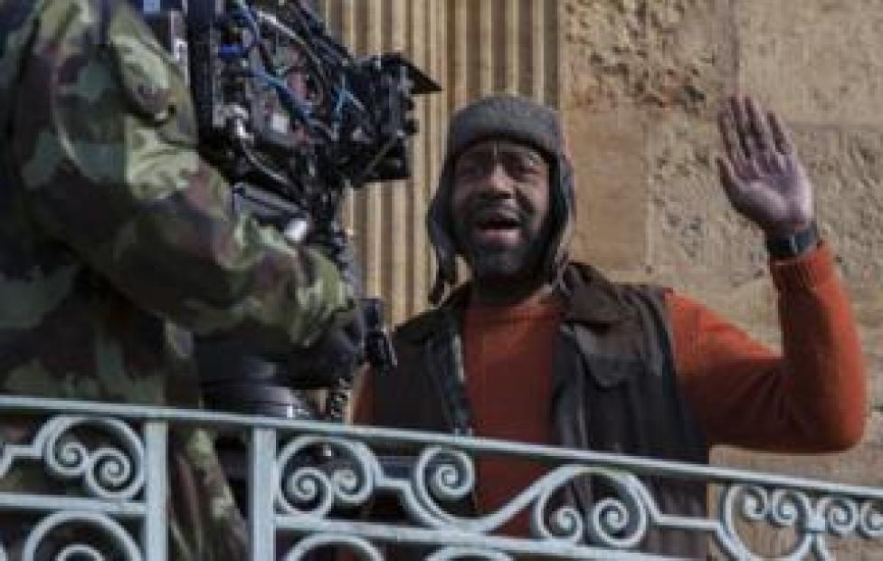 Lenny Henry filming The Syndicate