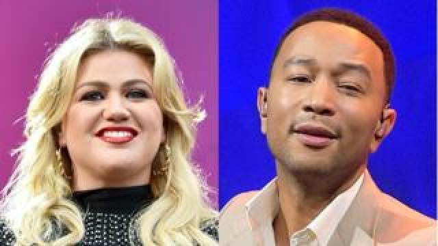 Kelly Clarkson and John Legend