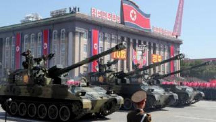 Pyongyang military parade marks 70th anniversary of foundation of North Korea