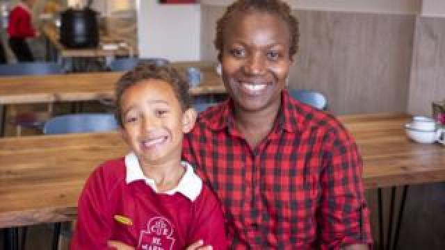 Sheilla Addy-Tely and her son Ethan