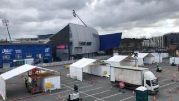 Work underway at the cricket ground