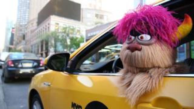 The Trekkie Monster puppet from Avenue Q